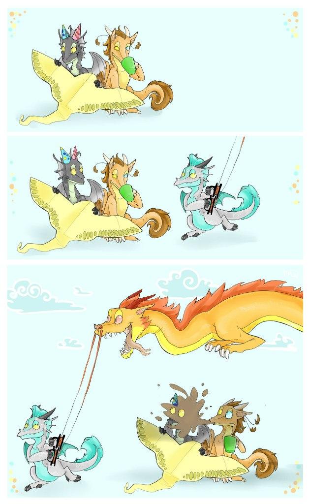 Картинки комиксы про драконов